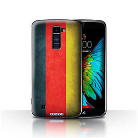 STUFF4 Case/Cover for LG K8/K350N/Phoenix 2 / Germany/German Design / Flags Collection Mobile phones