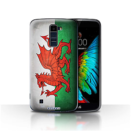 STUFF4 Case/Cover for LG K8/K350N/Phoenix 2 / Wales/Welsh Design / Flags Collection Mobile phones