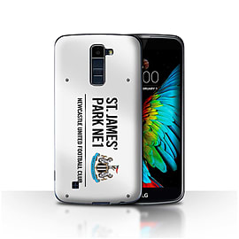 Newcastle United FC Case/Cover for LG K8/K350N/Phoenix 2/White/Black Design/St James Park Sign Mobile phones