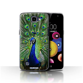 STUFF4 Case/Cover for LG K4/K120/K121/K130 / Peacock Design / Wildlife Animals Collection Mobile phones