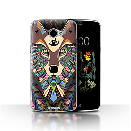 STUFF4 Case/Cover for LG K5/X220/Q6 / Wolf-Colour Design / Aztec Animal Design Collection Mobile phones