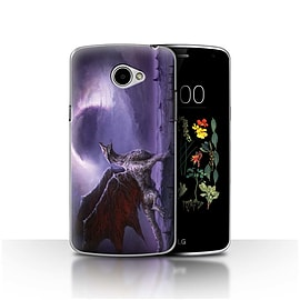 Official Chris Cold Case/Cover for LG K5/X220/Q6 / Dragon/Eclipse Design / Dark Art Demon Collection Mobile phones