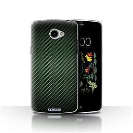 STUFF4 Case/Cover for LG K5/X220/Q6 / Green Design / Carbon Fibre Effect/Pattern Collection Mobile phones