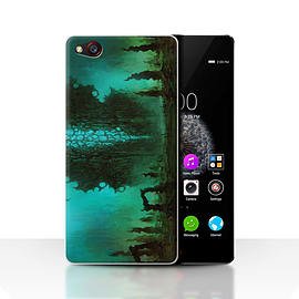 Official Chris Cold Case/Cover for ZTE Nubia Z9/Alien Landscape Design/Alien World Cosmos Mobile phones
