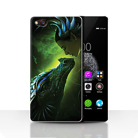 Official Elena Dudina Case/Cover for ZTE Nubia Z9 / Green Scales Design / Dragon Reptile Collection Mobile phones