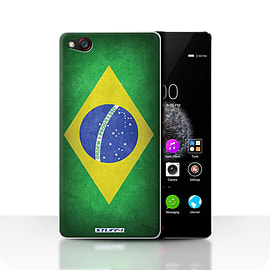 STUFF4 Case/Cover for ZTE Nubia Z9 / Brazil/Brazilian Design / Flags Collection Mobile phones