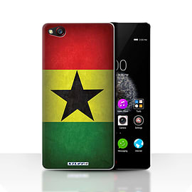 STUFF4 Case/Cover for ZTE Nubia Z9 / Ghana/Ghanaian Design / Flags Collection Mobile phones