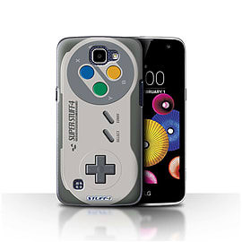 STUFF4 Case/Cover for LG K4/K120/K121/K130 / Super Nintendo Design / Games Console Collection Mobile phones