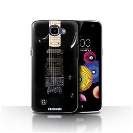 STUFF4 Case/Cover for LG K4/K120/K121/K130 / Black Electirc Design / Guitar Collection Mobile phones