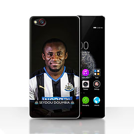 Official Newcastle United FC Case/Cover for ZTE Nubia Z9/Doumbia Design/NUFC Football Player 15/16 Mobile phones