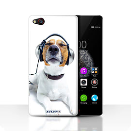 STUFF4 Case/Cover for ZTE Nubia Z9 / Chillin Headphone Dog Design / Funny Animals Collection Mobile phones