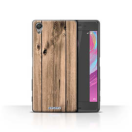 STUFF4 Case/Cover for Sony Xperia X Performance/Plank Design/Wood Grain Effect/Pattern Mobile phones