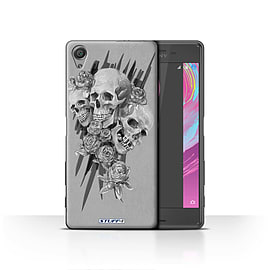 STUFF4 Case/Cover for Sony Xperia X / Three Design / Skull Art Sketch Collection Mobile phones