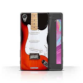 STUFF4 Case/Cover for Sony Xperia X Performance / Red Electric Design / Guitar Collection Mobile phones