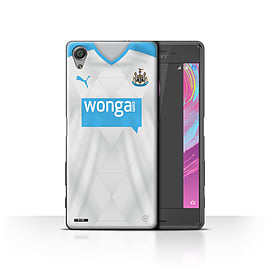 Official NUFC Case/Cover for Sony Xperia X Performance/Footballer Design/NUFC Away Shirt/Kit 15/16 Mobile phones