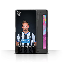 Official NUFC Case/Cover for Sony Xperia X Performance/De Jong Design/NUFC Football Player 15/16 Mobile phones