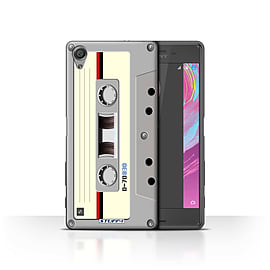STUFF4 Case/Cover for Sony Xperia X Performance/Compact Cassette Tape Design/Retro Tech Mobile phones
