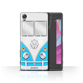 STUFF4 Case/Cover for Sony Xperia X Performance / Blue Design / VW Camper Van Collection Mobile phones