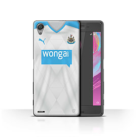 Newcastle United FC Case/Cover for Sony Xperia X/Footballer Design/NUFC Away Shirt/Kit 15/16 Mobile phones