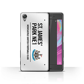Official Newcastle United FC Case/Cover for Sony Xperia X/White/Black Design/St James Park Sign Mobile phones