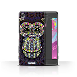 STUFF4 Case/Cover for Sony Xperia X / Monkey-Colour Design / Aztec Animal Design Collection Mobile phones