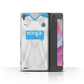 Newcastle United FC Case/Cover for Sony Xperia XA/Footballer Design/NUFC Away Shirt/Kit 15/16 Mobile phones