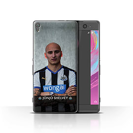 Official Newcastle United FC Case/Cover for Sony Xperia XA/Shelvey Design/NUFC Football Player 15/16 Mobile phones
