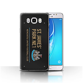 Newcastle United FC Case/Cover for Samsung Galaxy J5 2016/Black/Gold Design/St James Park Sign Mobile phones