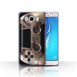 STUFF4 Case/Cover for Samsung Galaxy J5 2016 / Desert Camouflage Design / Playstation PS4 Collection Mobile phones