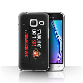Sunderland AFC Case/Cover for Samsung Galaxy J1 Nxt/Mini/Black/Red Design/SAFC Stadium of Light Sign Mobile phones