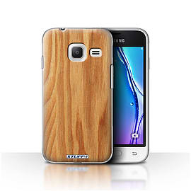 STUFF4 Case/Cover for Samsung Galaxy J1 Nxt/Mini / Oak Design / Wood Grain Effect/Pattern Collection Mobile phones