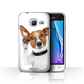STUFF4 Case/Cover for Samsung Galaxy J1 Nxt/Mini / Listening Dog Design / Funny Animals Collection Mobile phones