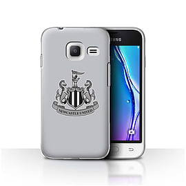 Newcastle United FC Case/Cover for Samsung Galaxy J1 Nxt/Mini/Mono/Grey Design/NUFC Football Crest Mobile phones