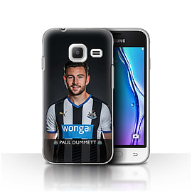 Official NUFC Case/Cover for Samsung Galaxy J1 Nxt/Mini/Dummett Design/NUFC Football Player 15/16 Mobile phones