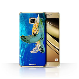 STUFF4 Case/Cover for Samsung Galaxy C7 / Turtle Design / Wildlife Animals Collection Mobile phones