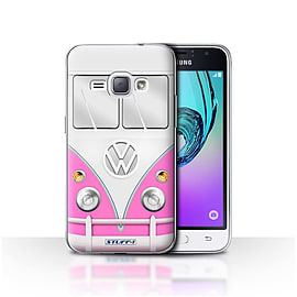 STUFF4 Case/Cover for Samsung Galaxy J1 2016 / Pink Design / VW Camper Van Collection Mobile phones