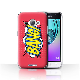 STUFF4 Case/Cover for Samsung Galaxy J1 2016 / Bang! Design / Comics/Cartoon Words Collection Mobile phones