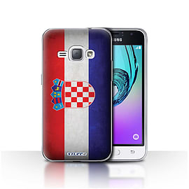 STUFF4 Case/Cover for Samsung Galaxy J1 2016 / Croatia/Croatian Design / Flags Collection Mobile phones