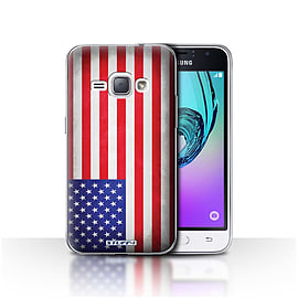 STUFF4 Case/Cover for Samsung Galaxy J1 2016 / America/American/USA Design / Flags Collection Mobile phones
