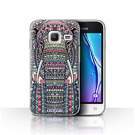 STUFF4 Case/Cover for Samsung Galaxy J1 Nxt/Mini/Elephant-Colour Design/Aztec Animal Mobile phones