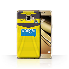 Newcastle United FC Case/Cover for Samsung Galaxy C7/Goalkeeper Design/NUFC Home Shirt/Kit 15/16 Mobile phones