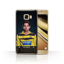 Official Newcastle United FC Case/Cover for Samsung Galaxy C7/Krul Design/NUFC Football Player 15/16 Mobile phones