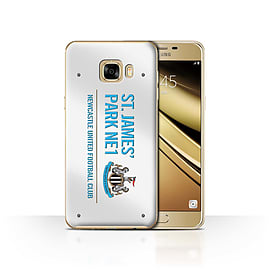 Official Newcastle United FC Case/Cover for Samsung Galaxy C7/White/Blue Design/St James Park Sign Mobile phones