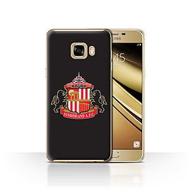 Official Sunderland AFC Case/Cover for Samsung Galaxy C7/Black Design/SAFC Football Club Crest Mobile phones