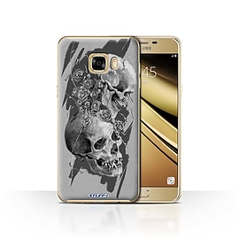 STUFF4 Case/Cover for Samsung Galaxy C7 / Thorns Design / Skull Art Sketch Collection Mobile phones