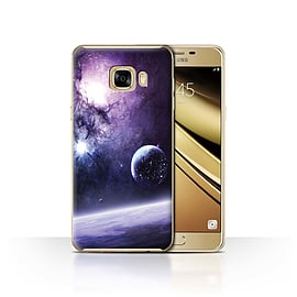 Official Chris Cold Case/Cover for Samsung Galaxy C7/Planet/Moon Design/Alien World Cosmos Mobile phones