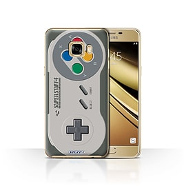 STUFF4 Case/Cover for Samsung Galaxy C7 / Super Nintendo Design / Games Console Collection Mobile phones
