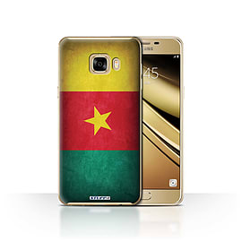 STUFF4 Case/Cover for Samsung Galaxy C7 / Cameroon/Cameroonian Design / Flags Collection Mobile phones