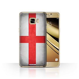 STUFF4 Case/Cover for Samsung Galaxy C7 / England/English Design / Flags Collection Mobile phones