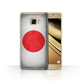 STUFF4 Case/Cover for Samsung Galaxy C7 / Japan/Japanese Design / Flags Collection Mobile phones